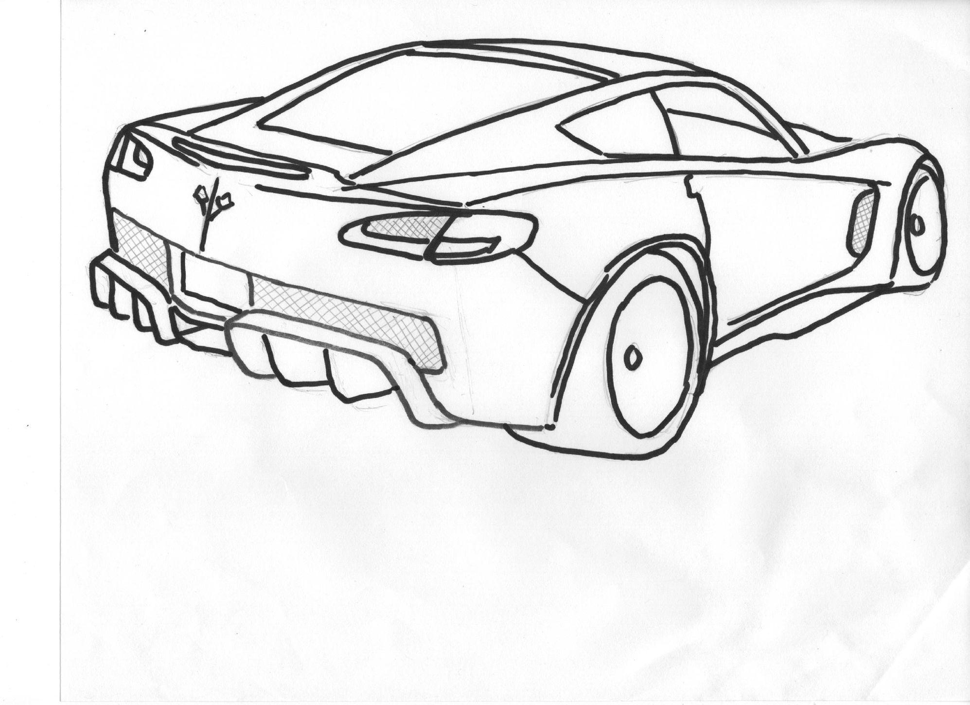 C7 Corvette Rear Bumper W Round Taillights