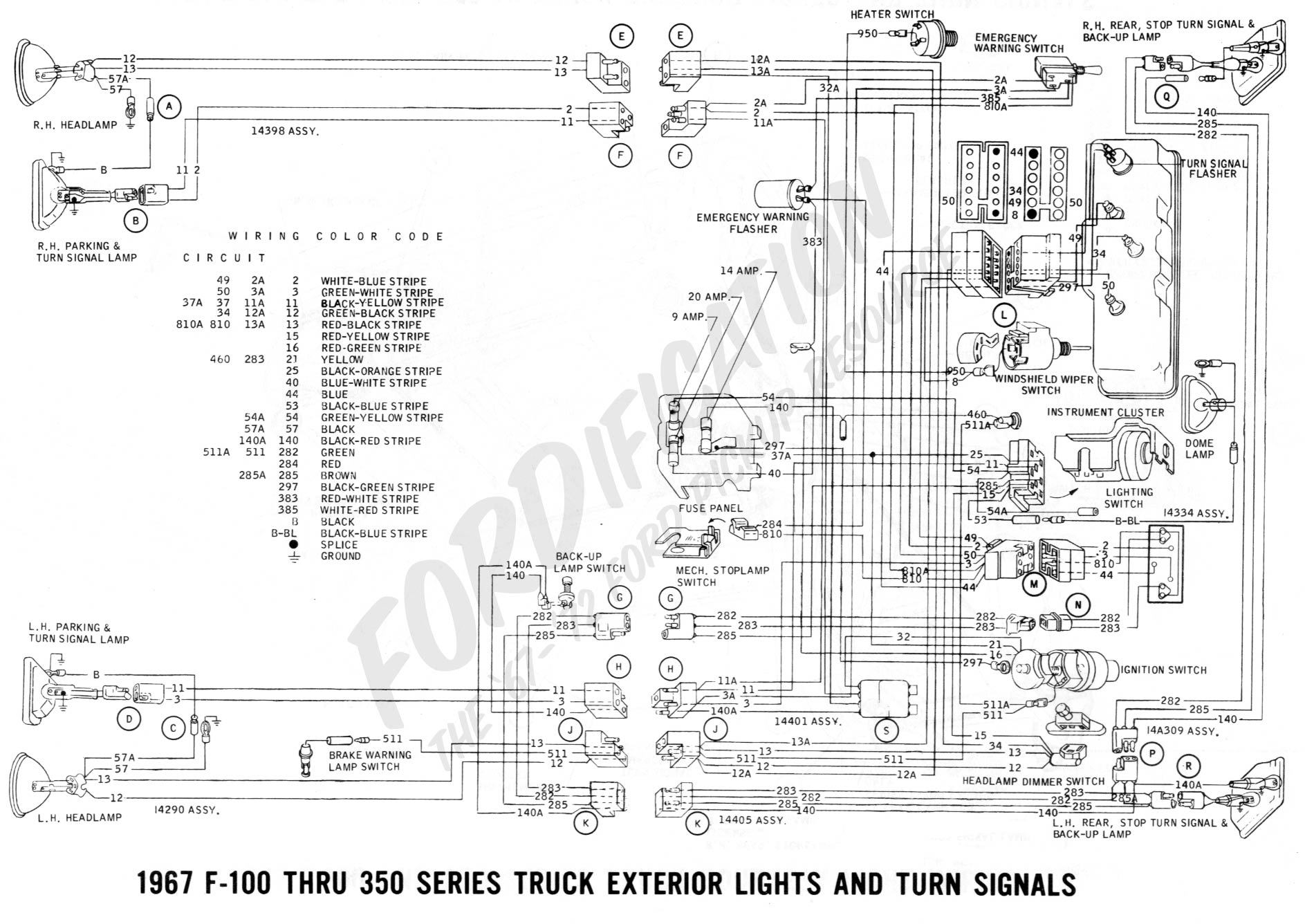 80 1967_exterior_lights_and_turn_signals_page_2_1db6c529c4c9567560e56d6320f993290ba5b803 1967 mustang wiring diagram efcaviation com 1966 mustang fuse box diagram at bayanpartner.co