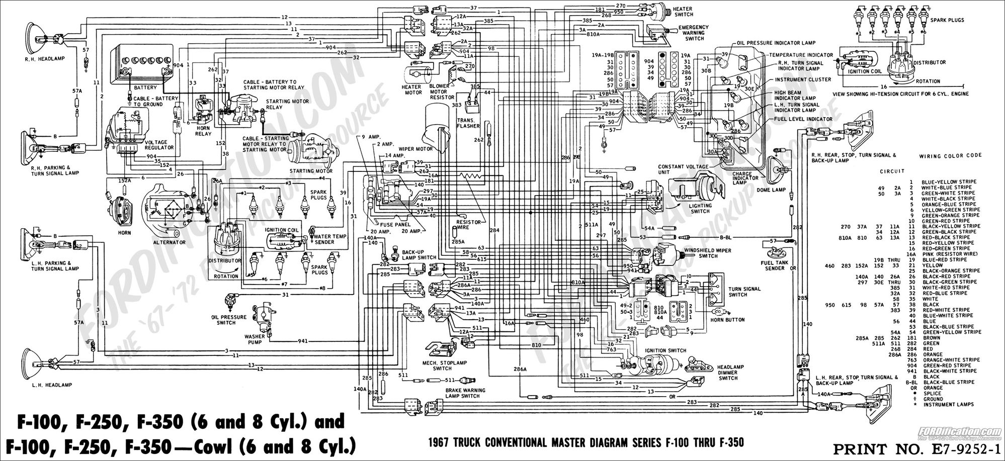 1970 ford f100 turn signal switch wiring diagram wiring diagram 1960 Ford F100 Wiring Diagram ford truck technical s and schematics section i 1960 ford f100 1960 ford f100 wiring diagram