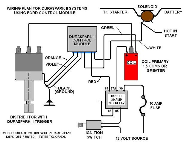 ford duraspark ii wiring diagram detailed schematic diagrams rh 4rmotorsports com Ford Duraspark Ignition System ford duraspark ignition module wiring