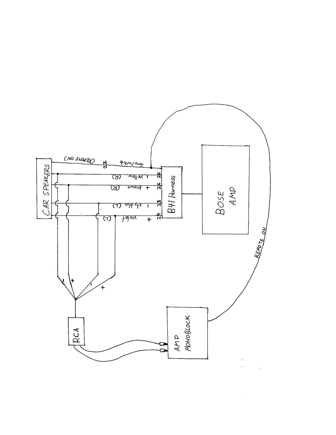 Help Sub Amp Install Factory Nose System
