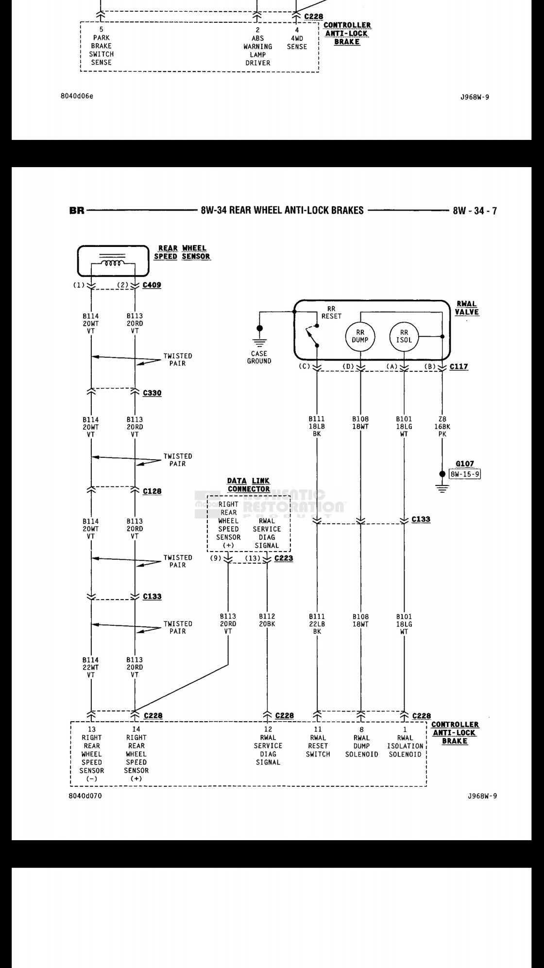 What Is The Abs Supply Voltage To Rwal Sensor On 99 Ram