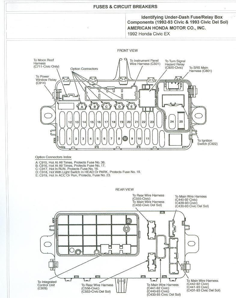 1993 Honda Prelude Fuse Box Diagram • Wiring Diagram For Free