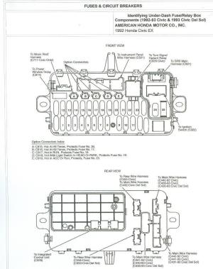 1993 Accord Ex 4dr under dash fuse diagram  HondaTech