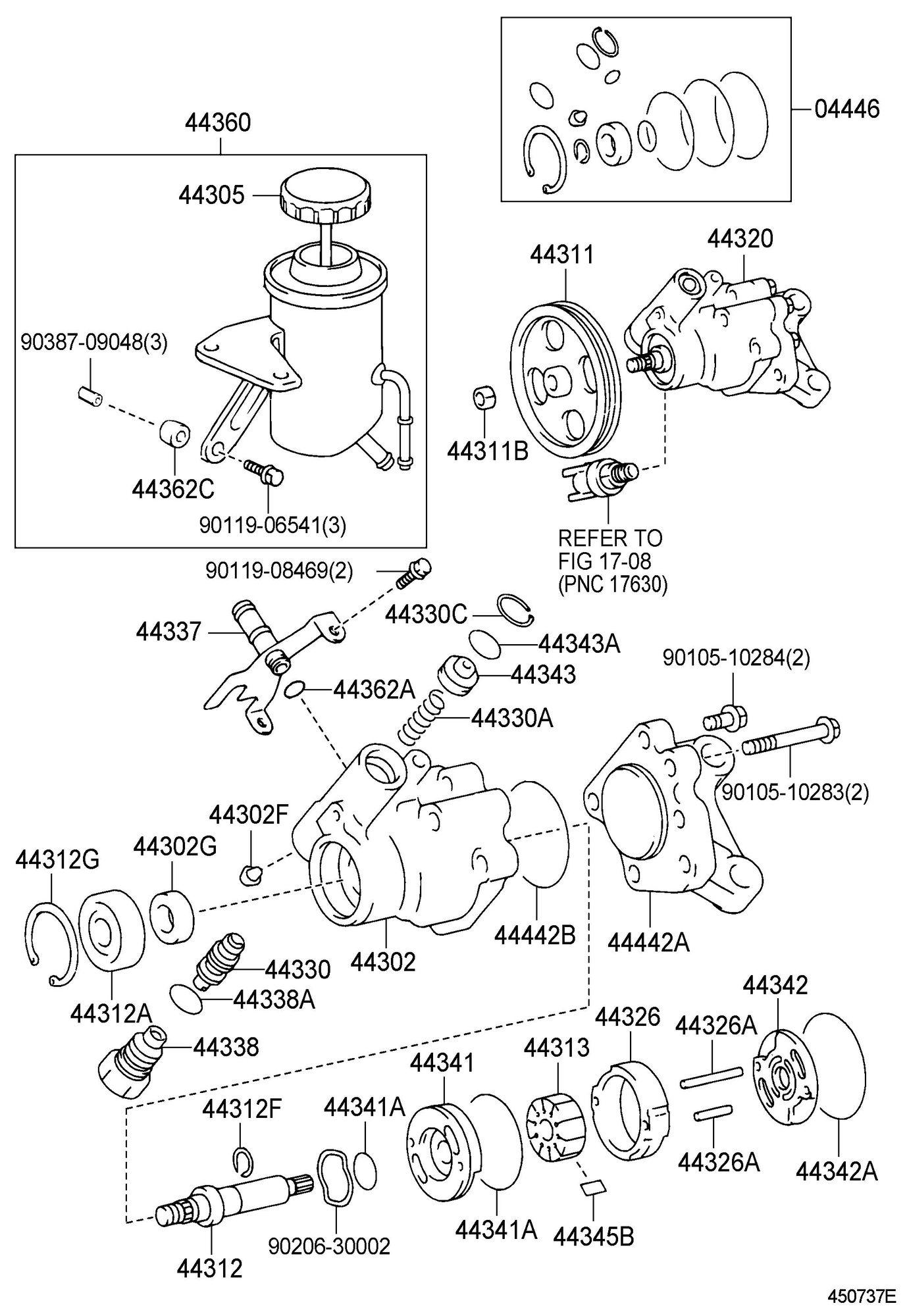 Exploded lexus parts diagram of 1998 ls400 p s pump internals lexus shop manual and parts list outlines the individual pump vanes are tolerance specific