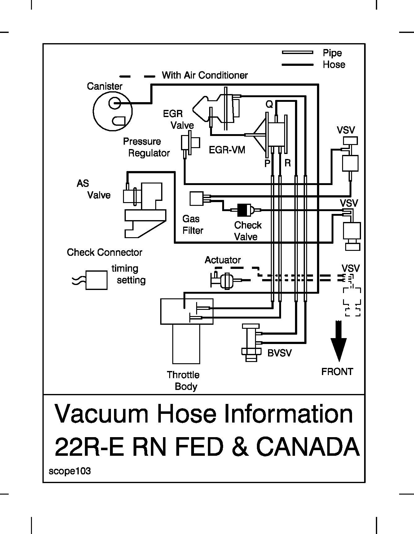 Vacuum Hose Routing Diagram Sticker