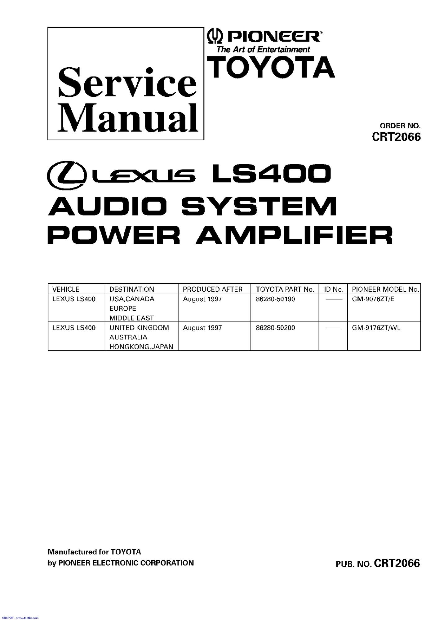 Lexus Ls400 Engine Diagram
