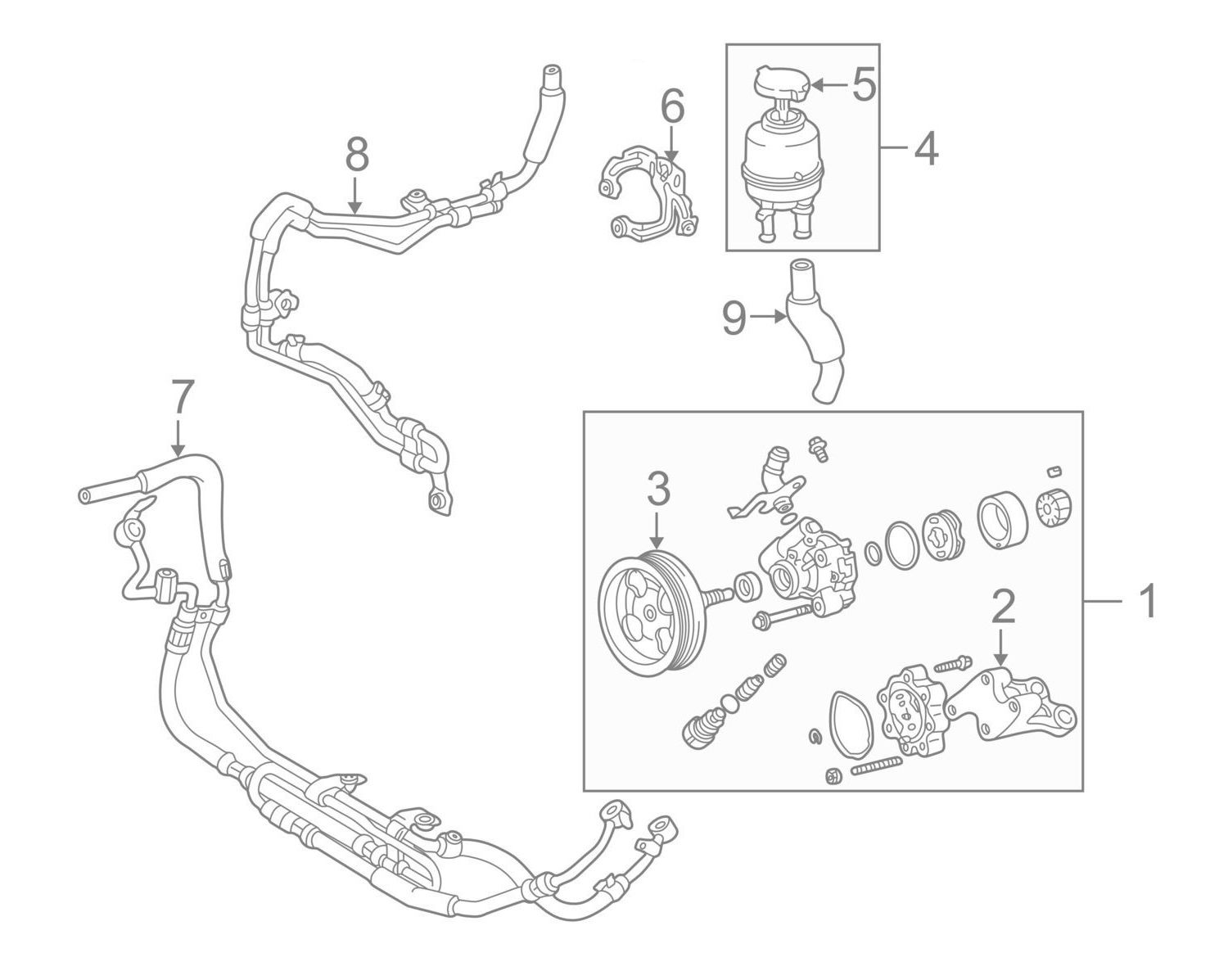 There are 2 hoses connected to the reservoir the one that goes to the power steering pump 9 in the picture below can be replaced with an ordinary rubber
