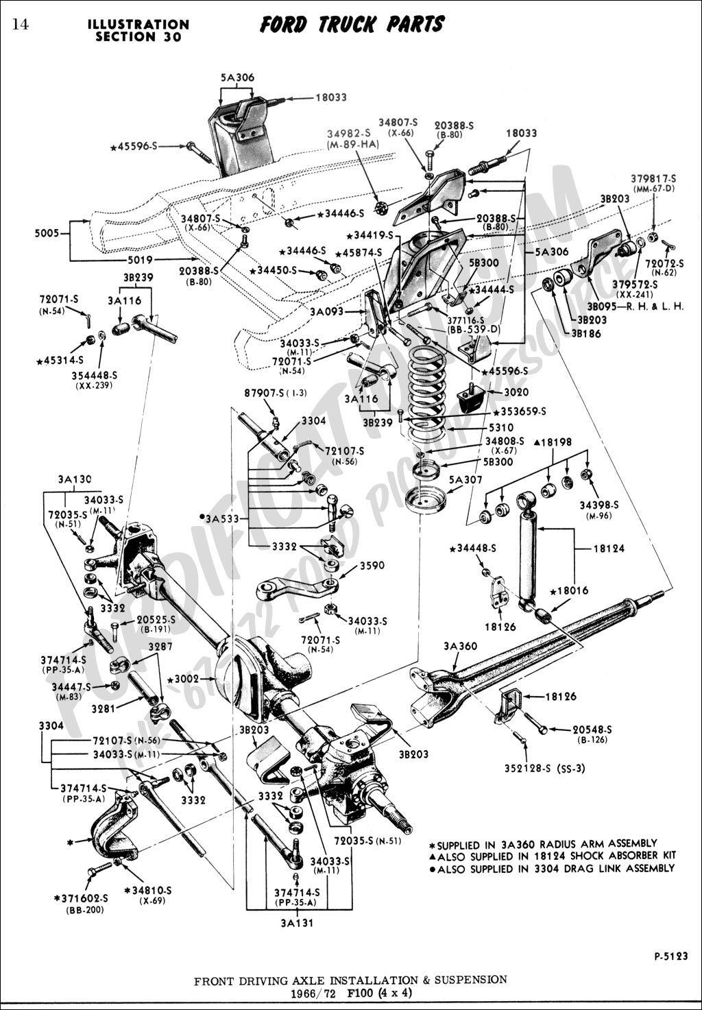 66 4x4 F100 Shock Absorbers