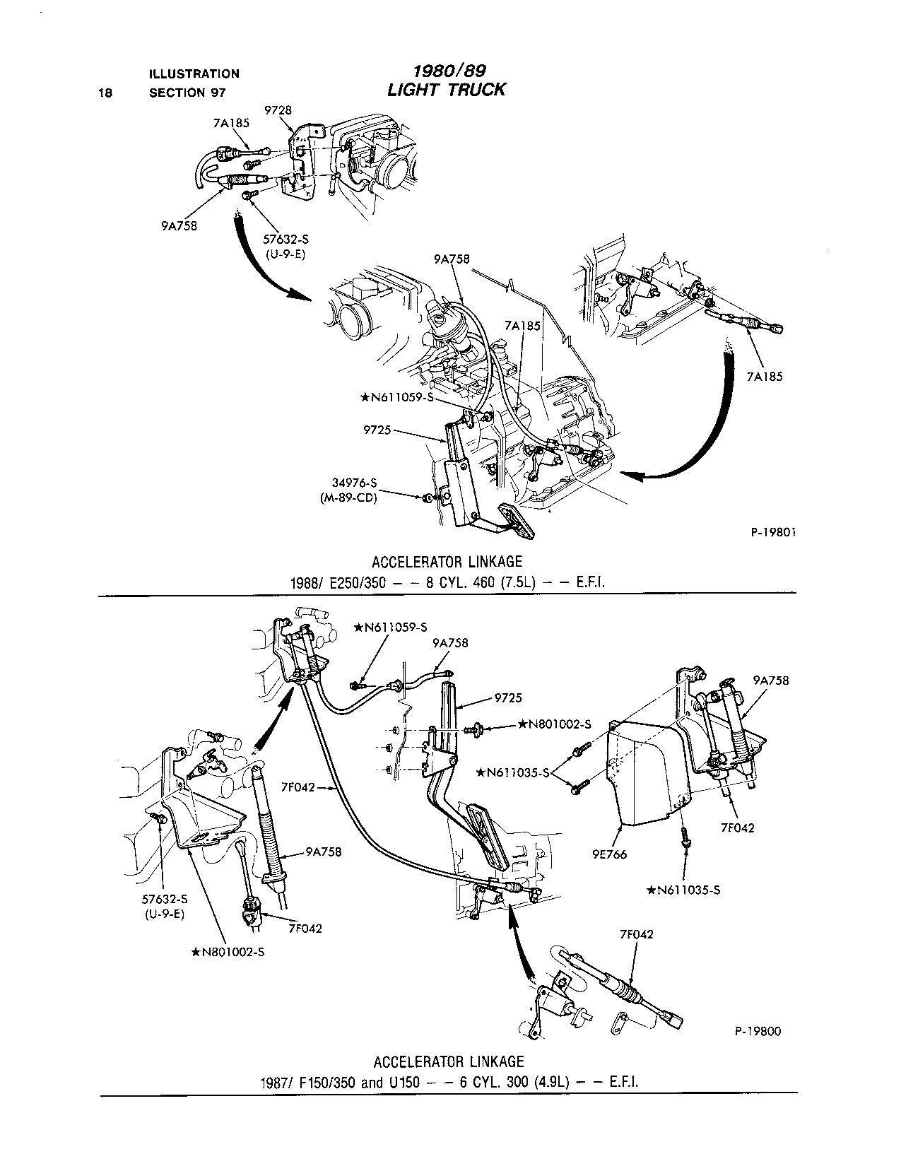 Ford F150 89 4 9l Manual Trans Throttle Return Spring