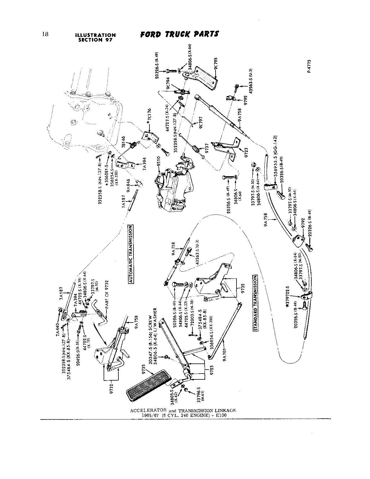 Throttle Linkage Diagram Photo Request 68 240 Cid F 100