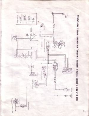 1965 F100 Instrument Panel Wiring Diagram  Ford Truck