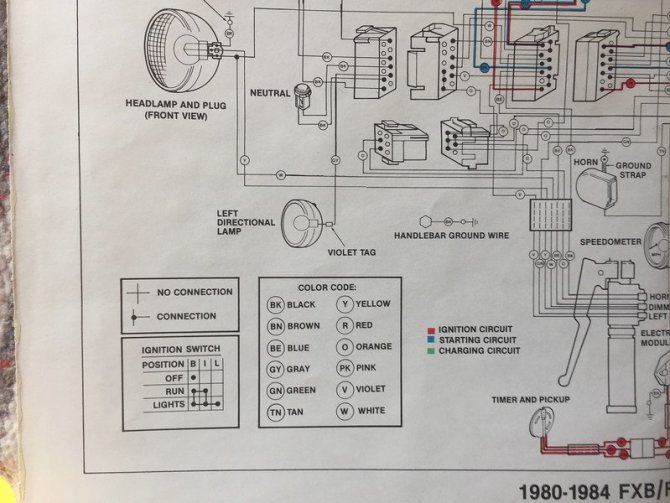 wiring diagram for 1980 flh harley davidson  honeywell