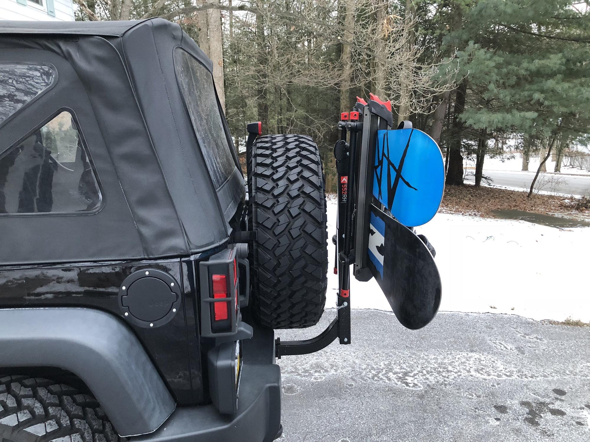 ski snowboard rack options for 2 door