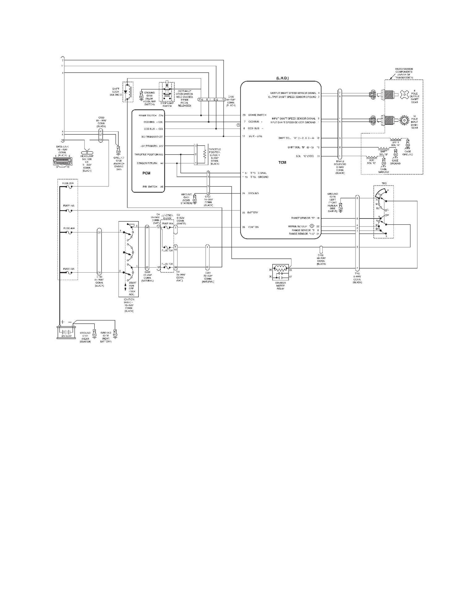 Aw4 tcm wiring diagram free 2000 jeep wrangler tj wiring