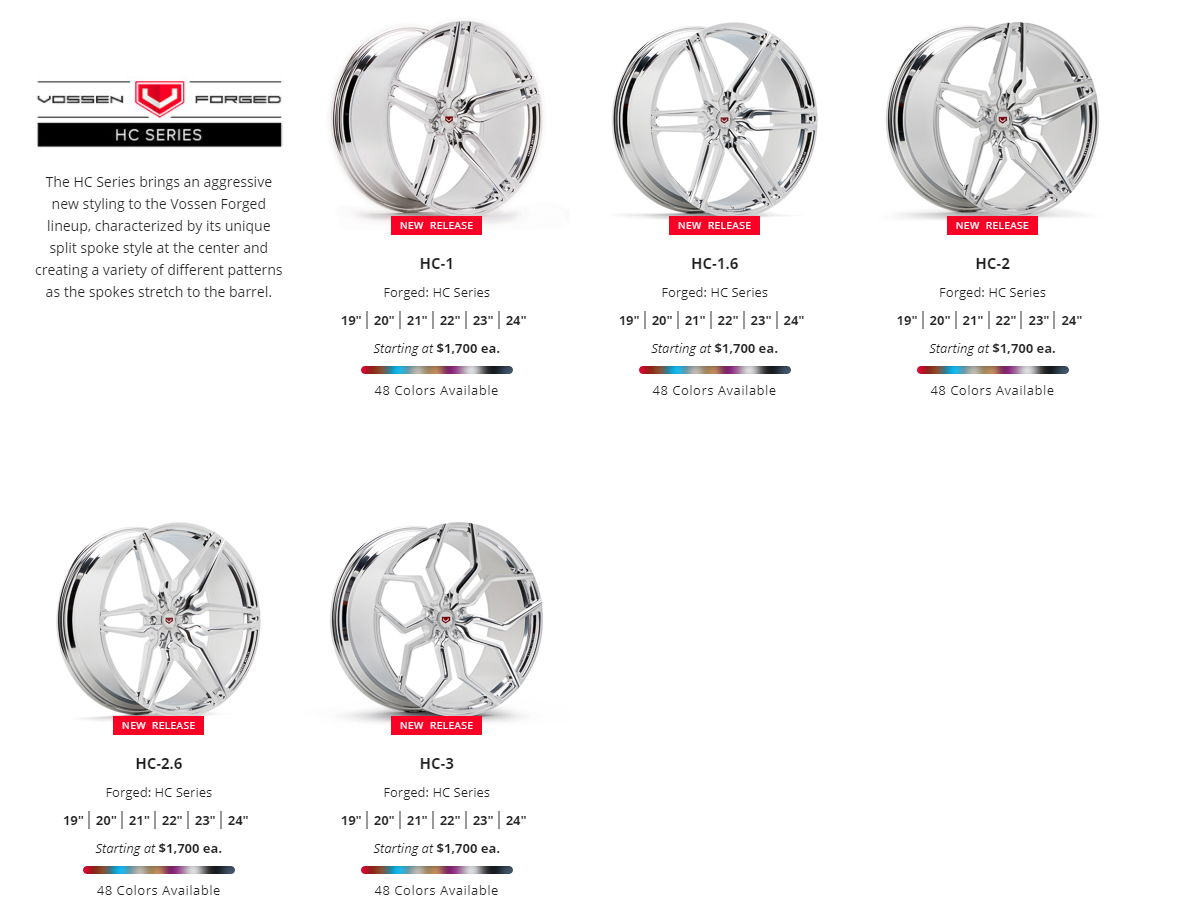 Vossen Wheels Cv Vfs Lc Cg Vps Hc Vws Ml R Member Pricing Amp Free Shipping
