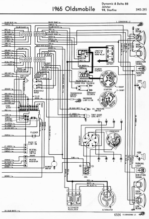 Wiring Diagram for a 1966 Dynamic 88  ClassicOldsmobile