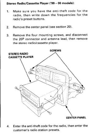 9900 Civic OEM radio wiring diagram  HondaTech  Honda Forum Discussion