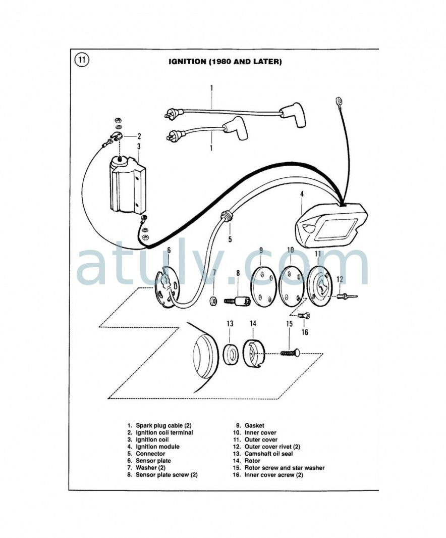 shovelhead oil line routing diagram