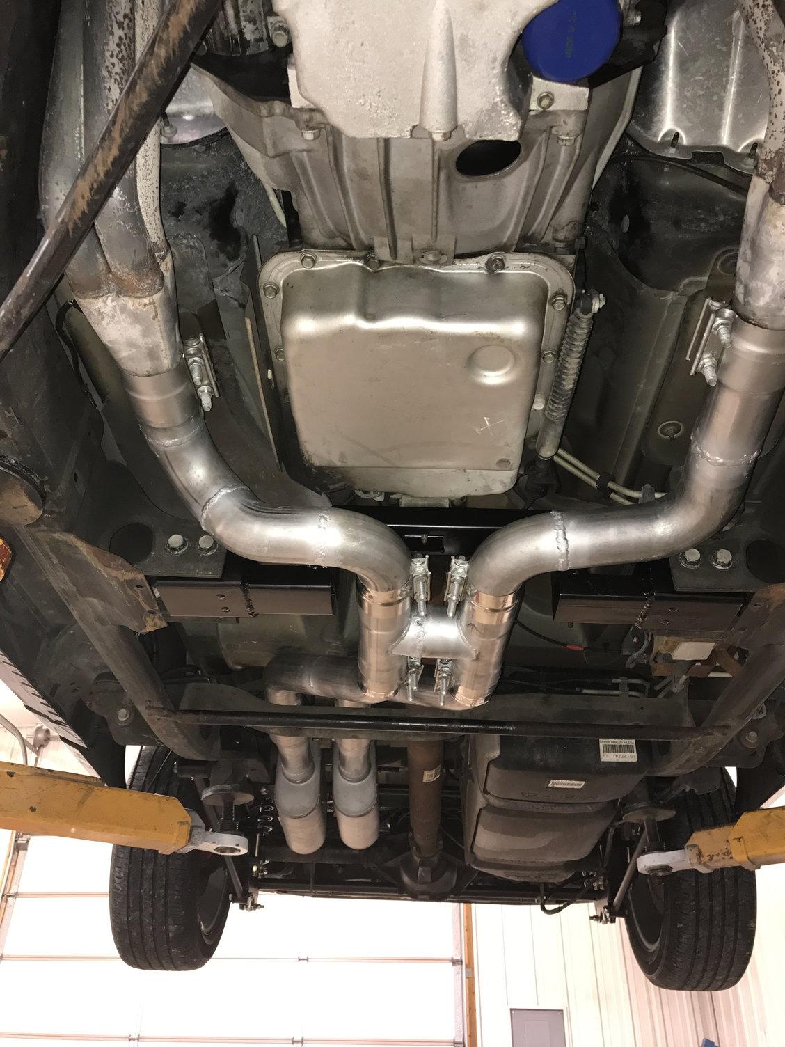 custom true dual exhaust and trans