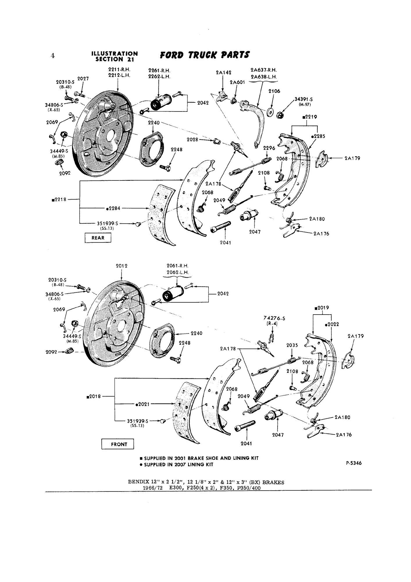 Brake Shoe Size F100