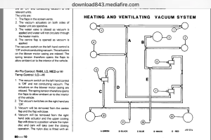 XJ6 Series 2 Heater vent vacuum line diagram  Jaguar