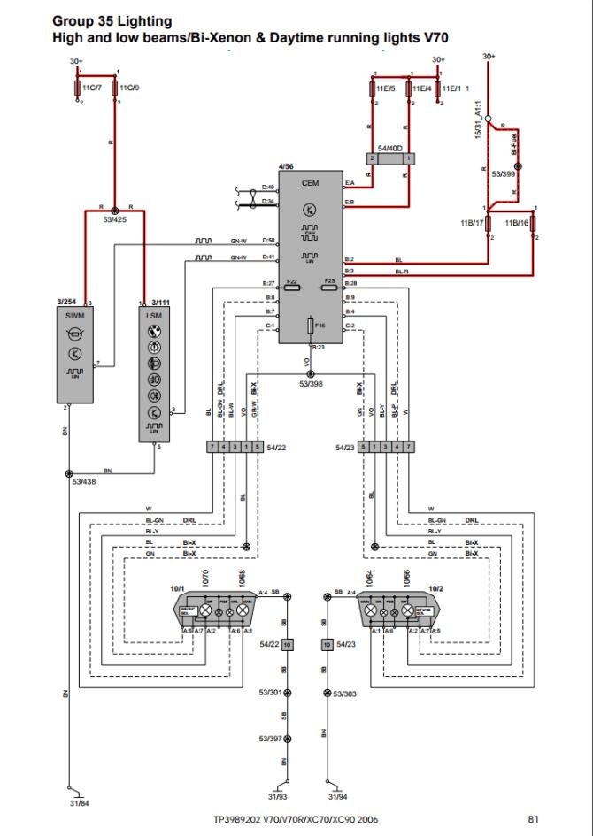 volvo v70 headlight wiring diagram  spec d tuning headlight