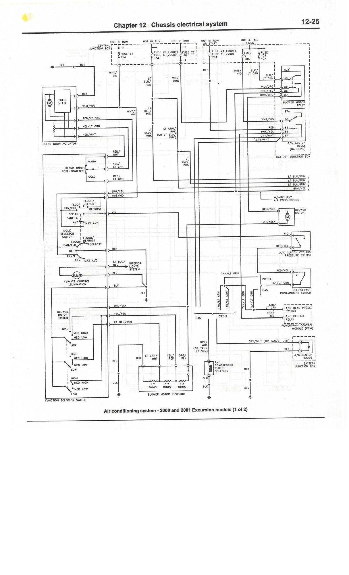 Complete Excursion Wiring Diagrams So Far