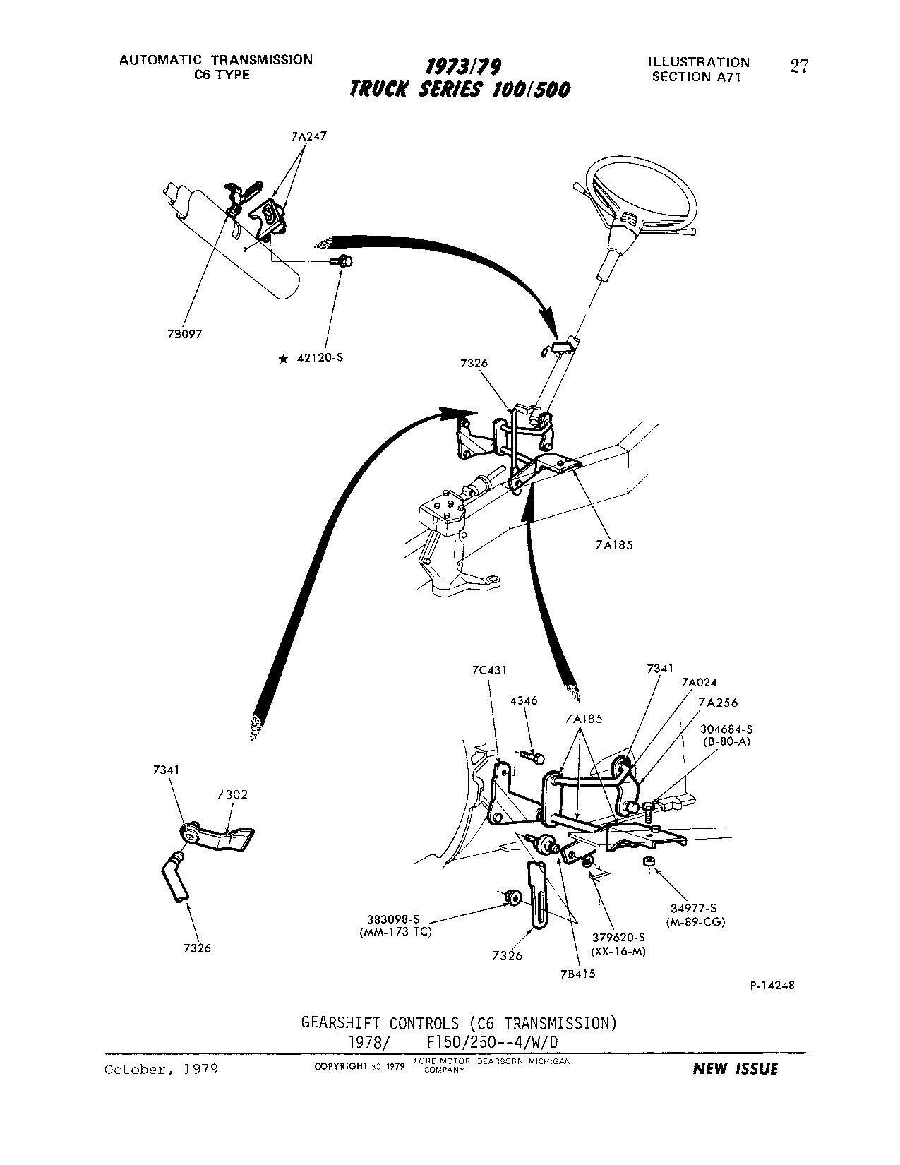 Diagram Of 79 4x4 C6 Shift Linkage
