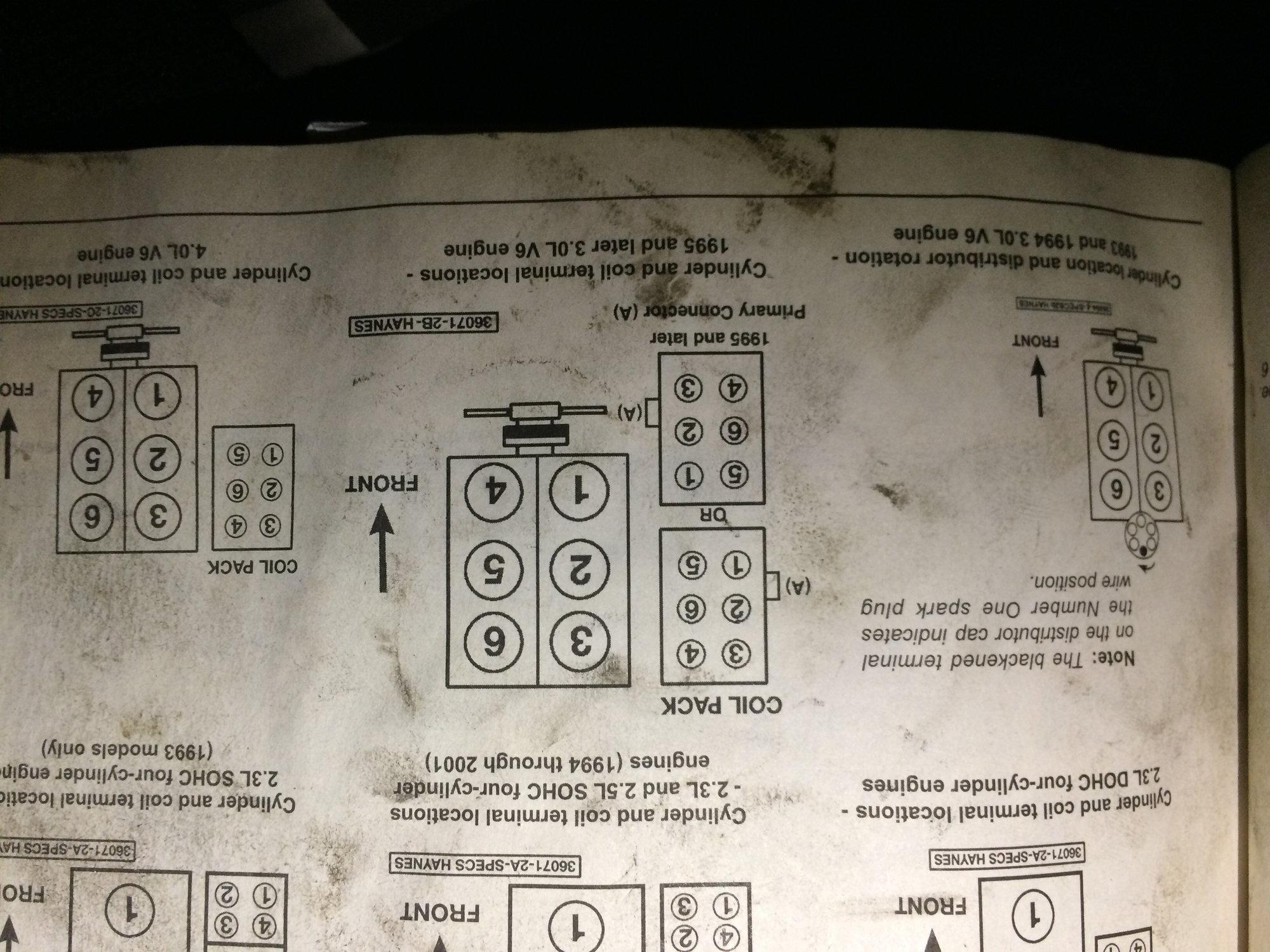 Plug 40l Order Firing Diagram Ford Spark Ranger 1994