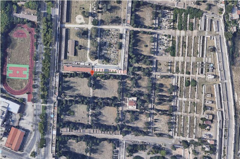 mappa cimitero cartografia