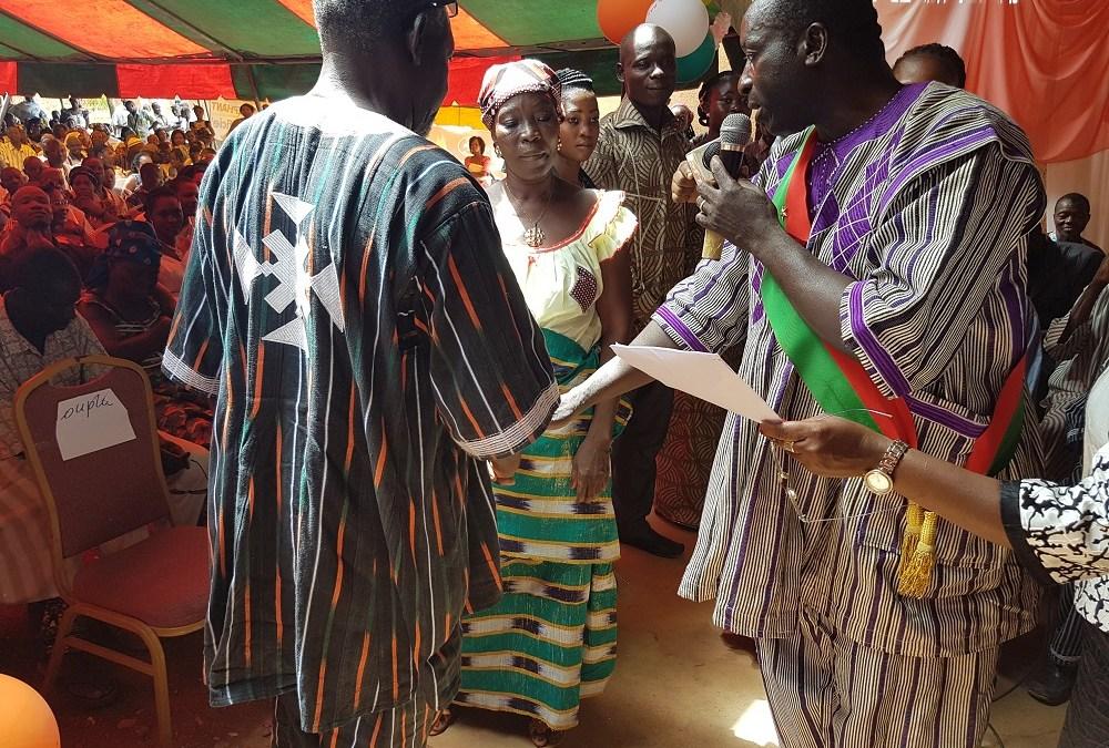 CIMFASO PARRAIN DU MARIAGE COLLECTIF ORGANISE PAR LA MAIRIE DE NONGRE-MASOOM
