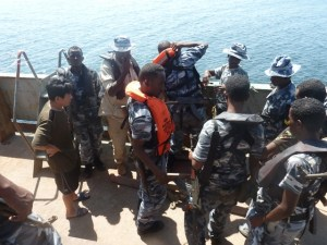 The PMPF detains a North Korean vessel accused of illegally dumping cement in Somali waters.