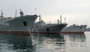 Russian naval vessels in Sevastopol, Ukraine.