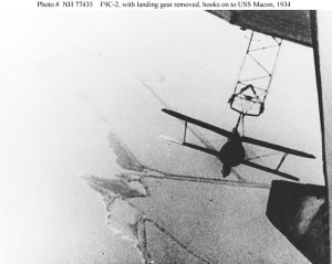 Hooking into the trapeze aboard the Macon… the parallel parking of the skies.