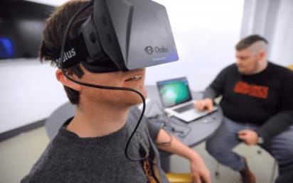 An Oculus Rift headset