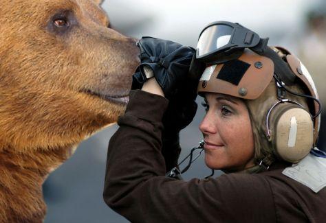 AT1 Billie Sanders conducting pre-flight checks on a B3AR5