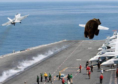 The first B3AR5 catapault launch w/ F-18 flight lead off the USS LEEROY JENKINS (BVN-1)
