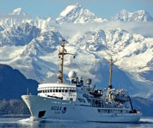 NOAA Ship Fairweather in the Alaskan Arctic.