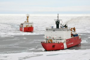 It doesn't happen often that an entire ice-breaking fleet is in one picture... but when it does, it's set to be cool.