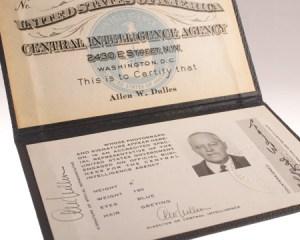 Allen Dulles CIA ID card.