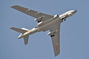 PLAAF Xian H-6M makes a turn over Changzhou city, Jiangsu. Creative Commons.