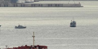 HMS Scimitar escorting Spanish Govt vessel Emma Bardan out of BGTWs
