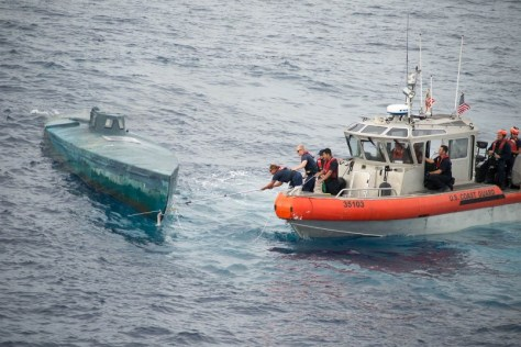 A USCG counter-narcotics operation