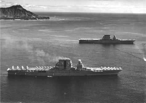 CV-2 Lexington and CV-3 Saratoga.