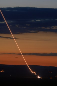 A test launch of the THAAD missile defense system. (Source: US Army).