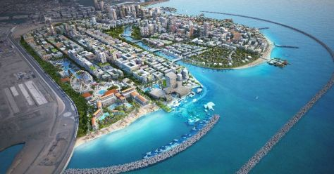 Concept image of the Colombo Port City Project.
