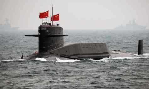 A People's Liberation Army Navy submarine . Photograph: Guang Niu/Getty Images