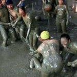 Festa Nazionale cinese nel fango