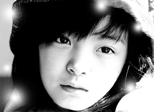 Guo Bailu baby modella cinese